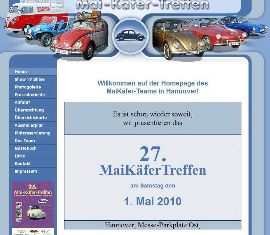 Messe Stuttgart Eingang Ost: 27. MaiKäferTreffen Hannover Für VW Fahrzeuge Mit