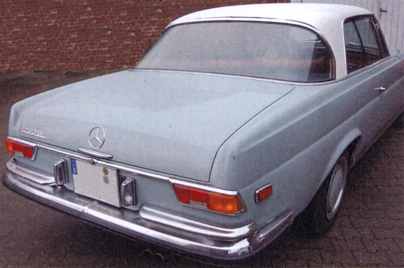 Mercedes Benz Oldtimer 280se Coupe Gestohlen Bahnhof Bergheim