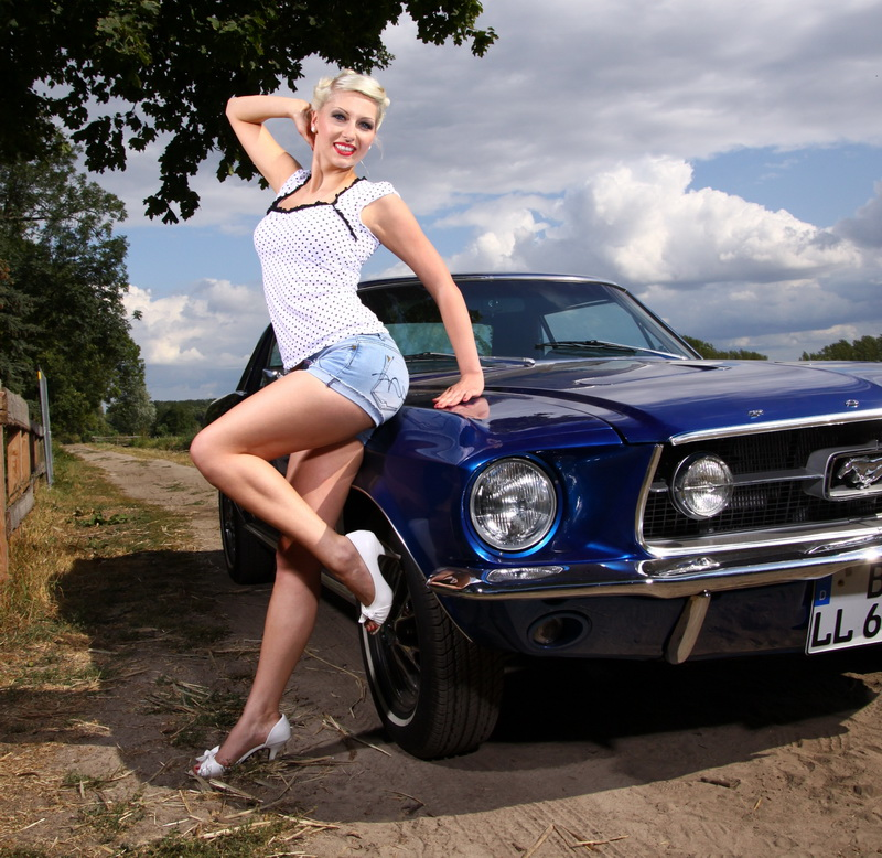 mustang pin up - photo #3